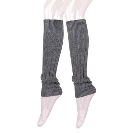 Fancy Slip Stitch Rib Knit Solid Color Leg Warmers](Leg Warmers Band)