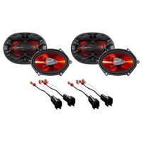 """Boss 5x7"""" Front+Rear Factory Speaker Replacement Kit For 2004-2006 Ford F-150"""