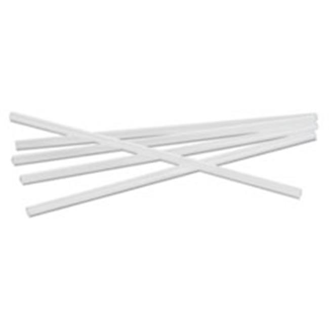 General Supply GEN285T Transparent Unwrapped Jumbo Straws, 7.75 in. - Pack of 500