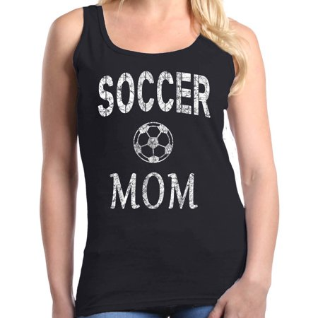 Shop4Ever Women's Soccer Mom Sporty Mom Graphic Tank Top