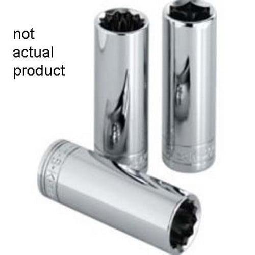 "SK Hand Tools 8457 3/8"" Drive 6 Point Extra Long Deep Metric Socket 7 mm"