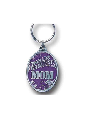 Worlds Greatest Mom Pewter Key Chain