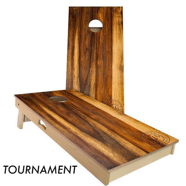Slick Woody's Treated Oak Regulation Size Cornhole Board Beanbag Toss Game Set by