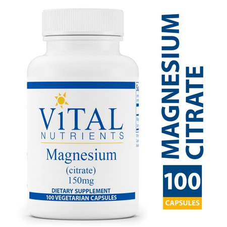 Vital Nutrients - Magnesium Citrate 150 mg - Magnesium for Enhanced Absorption - Gluten Free, Vegan Formula - 100 Vegetarian Capsules per