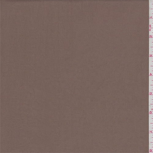 Mustang Brown Sueded Charmeuse, Fabric By the Yard