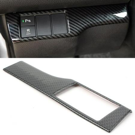 Cover Abs Panels (GZYF ABS Carbon Fiber ESP Control Switch Panel Cover Trim For Honda Civic 16-17 )