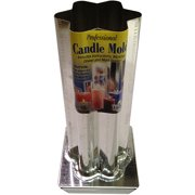"""Yaley Professional Metal Candle Mold, 6 Point Rounded Star, 2-1/2"""" x 6-1/2"""""""