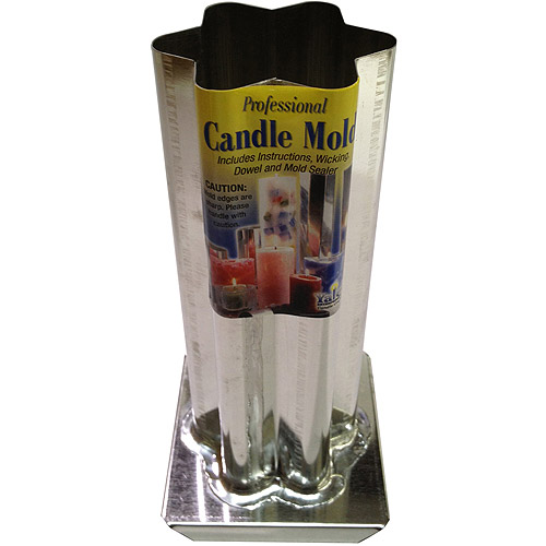"Yaley Professional Metal Candle Mold, 6 Point Rounded Star, 2-1/2"" x 6-1/2"""