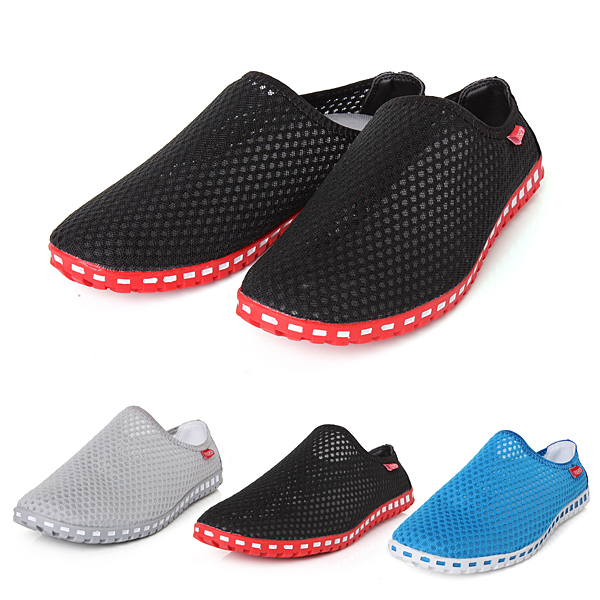 Summer Men's Casual Mesh Breathable Slip Ons Loafers Sandals Shoes Flip Flops