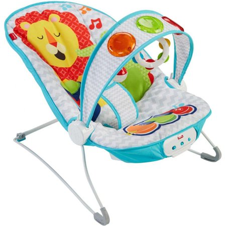 Fisher-Price Kick 'n Play Musical Bouncer with Removable Toy Bar