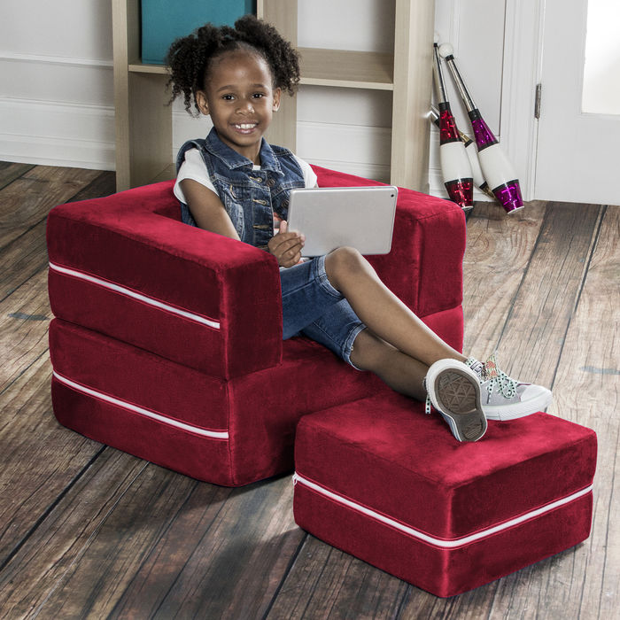 Jaxx Zipline Modular Kids Chair with Ottoman