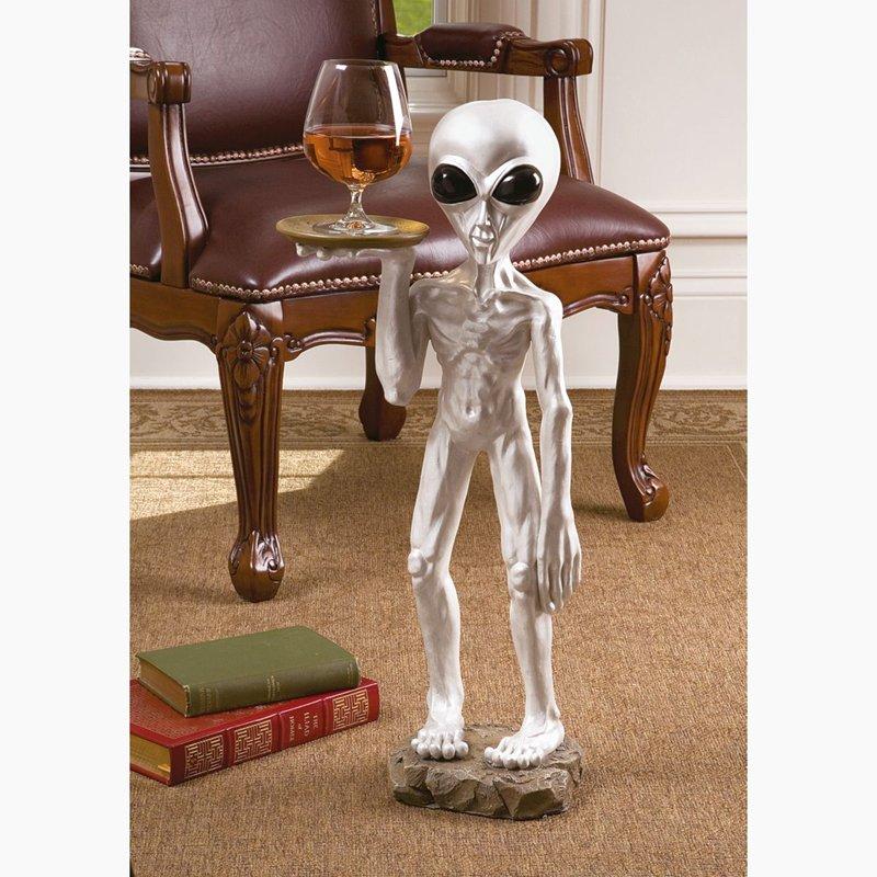 Roswell The Alien Butler Table Design Toscano Alien  Spacemen  Butler Table