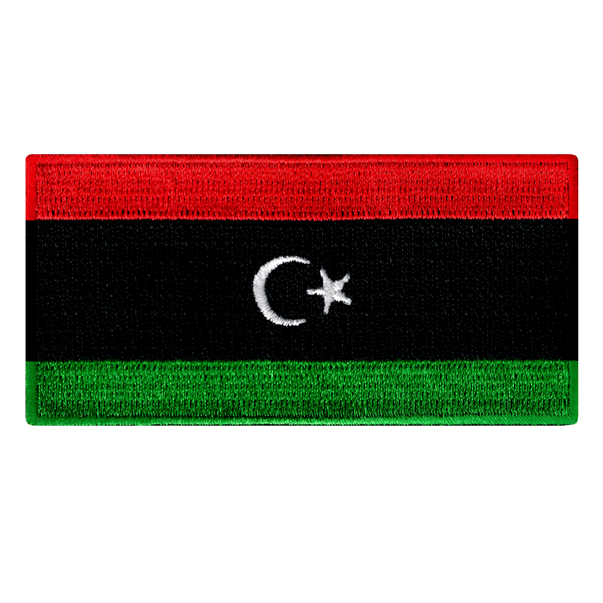 Libya Flag Embroidered Iron-on Patch