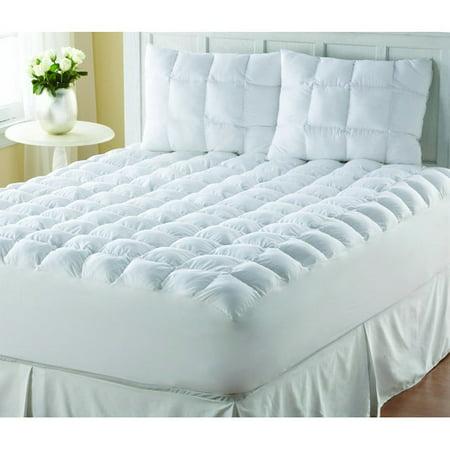 Perfect Fit Industries Supreme Loft Cloud Down Alternative White Cotton Mattress Pad