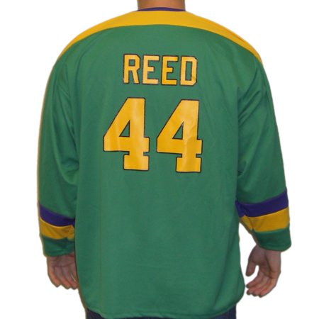 Fulton Reed #44 Mighty Ducks Movie Hockey Jersey Bash Brothers Slap Shot -