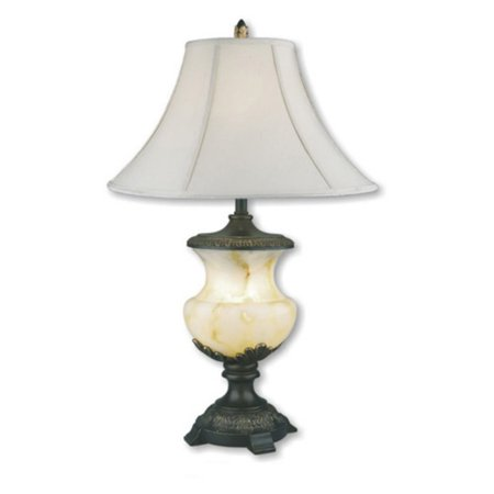 Alabaster Bowl Light - ORE International Alabaster Table Lamp with Night Light