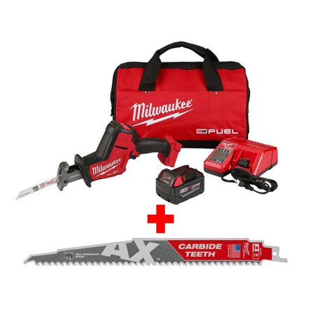 Milwaukee M18 FUEL 18-Volt Lithium-Ion Brushless Cordless HACKZALL Reciprocating Saw Kit with Carbide Teeth AX SAWZALL