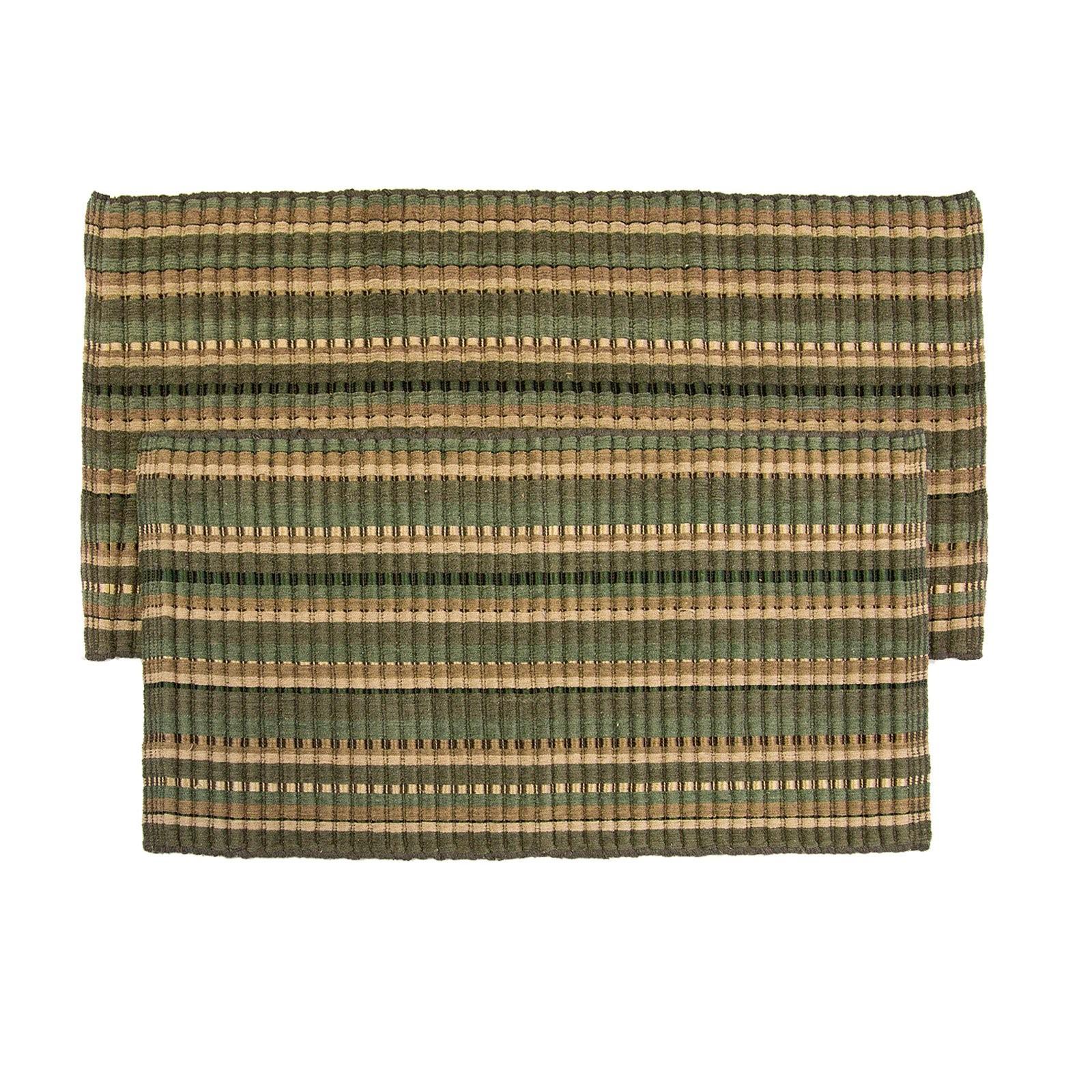 Home Weavers Inc. Silk Ribbed Hand-Woven Rug - Set of 2