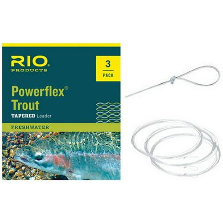 Rio Products Powerflex Trout Leaders 3X, 3pk ()