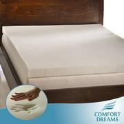 Comfort Dreams Ultra Soft 4-inch Memory Foam Mattress Topper. Mattress Pad. Queen Size.