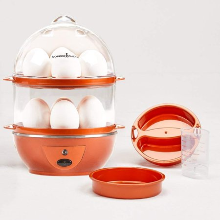 Want The Secret to Making Perfect Eggs & More C Electric Cooker Set-7 or 14 Capacity. Hard Boiled, Poached, Scrambled Eggs, or Omelets Automatic Shut Off, 7.5 x 6.7 x.., By Copper (The Best Way To Peel A Hard Boiled Egg)