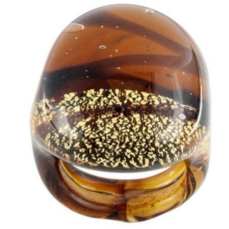 Italian Murano Glass Flower - Mia Collection: Multicolor Murano Glass Dome Ring Made in Italy