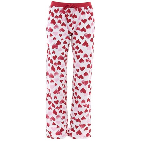 Mon Amie Juniors Red Faded Hearts Cotton Pajama Pants
