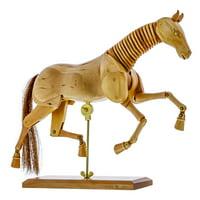 "US Art Supply Wooden Horse Artist Drawing Manikin Articulated Mannequin (12"" Horse)"