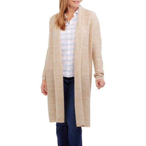 Faded Glory Women's Textured Maxi Cardigan