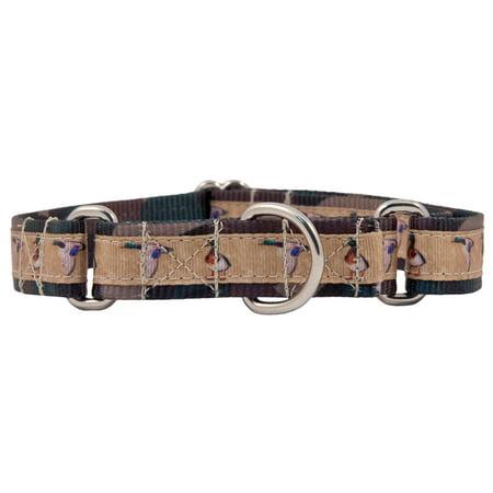 Country Brook Design® Duck Camo Grosgrain Ribbon Martingale Dog Collar