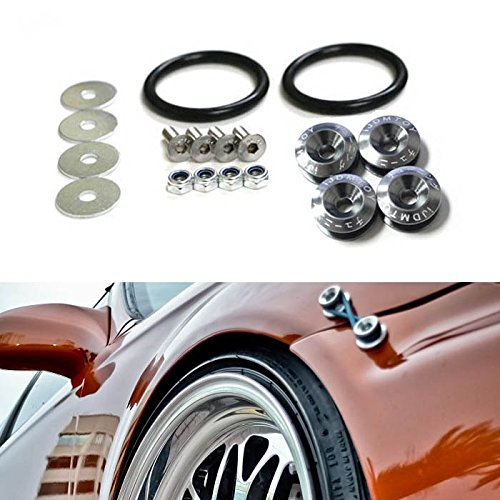 JDM Quick Release Fasteners For Car Bumpers Trunk Fender Hatch Lids Kit