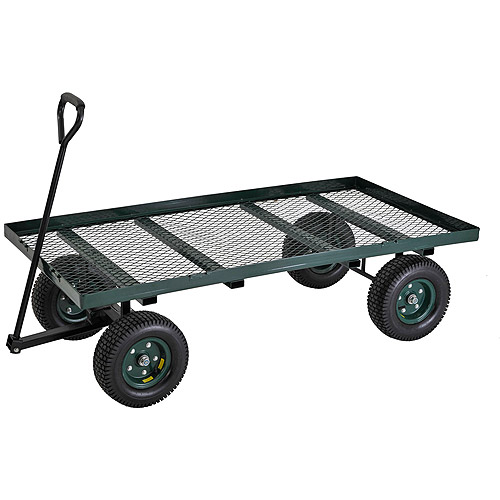 Muscle Carts Heavy Duty Steel Flat Wagon, 1000 lbs Load Capacity