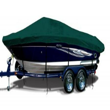 Forest Green Exact Fit Boat Cover Fitting 1999 2000 Smoker Craft 160 Stinger W Port Troll Mtr O B Models  9 25 Oz  Sunbrella Acrylic