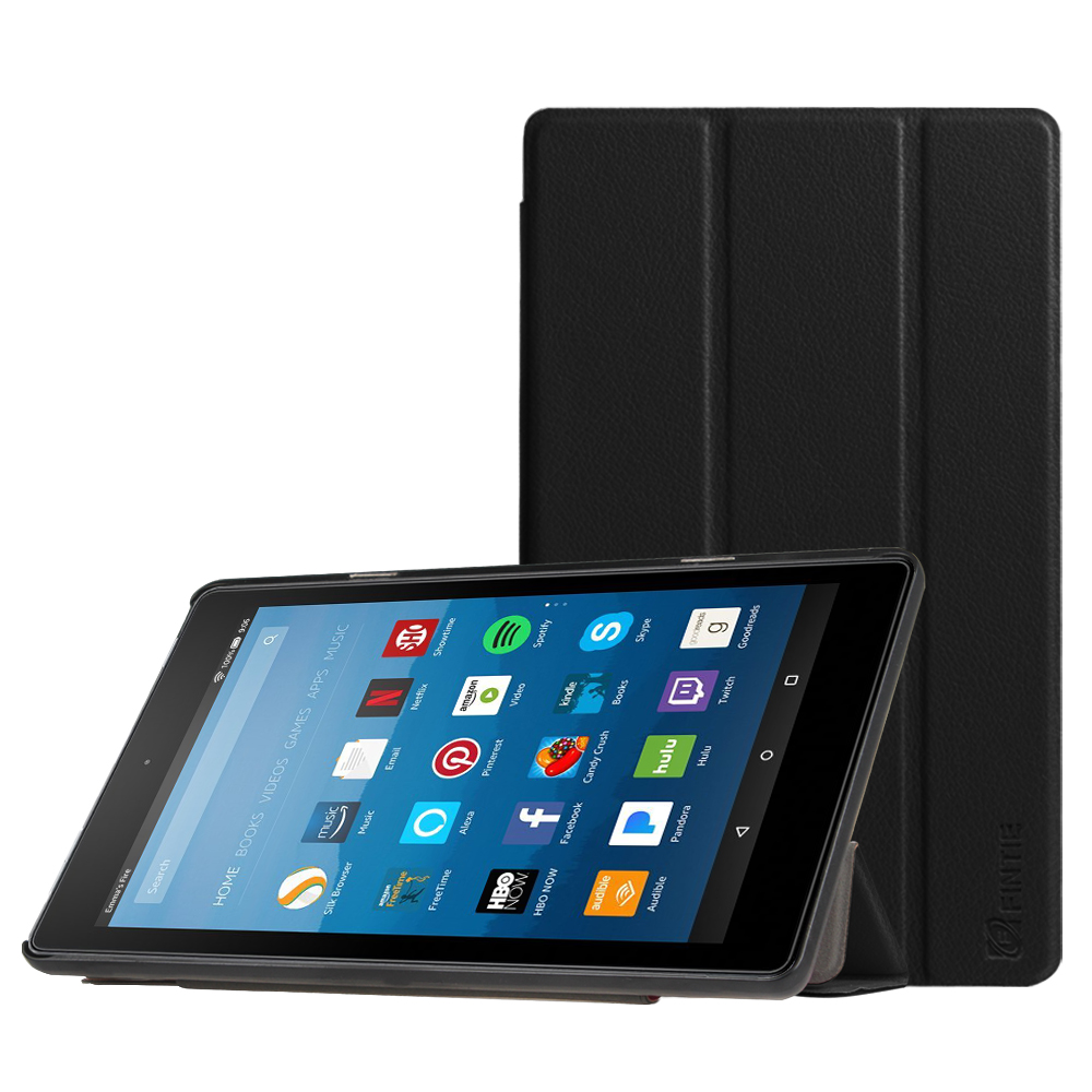 Fintie Fire HD 8 2017 Case - Ultra Lightweight Slim Shell Standing Cover for All-New Fire HD 8 Tablet 7th Gen, Black