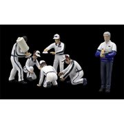 True Scale Miniatures 10AC06 Pit Crew Figurines Martini Racing Set of 6 for 1-43 Scale Models