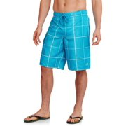 Big Men's Plaid E-Board Shorts