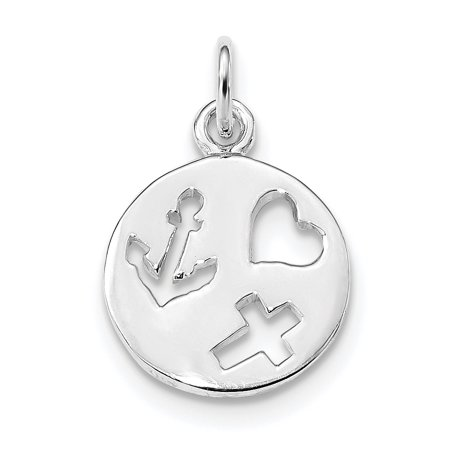 925 Sterling Silver Cut Out Heart Cross Religious Nautical Anchor Ship Wheel Mariners Pendant Charm Necklace Love With For - Ship Cut Out