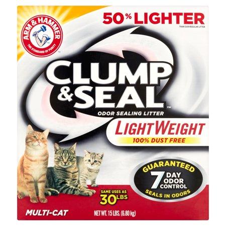 Arm   Hammer Clump   Seal Multi Cat Odor Sealing Litter  15 Lbs