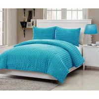 VCNY Home Aqua Fur Bedding Comforter Set