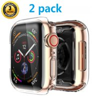 Case 44mm Series 4 for Apple Watch, 2019 New Case for iWatch Buit in TPU HD Clear Screen Protector, Overall Protective for Apple Watch Series 4 (44mm) 2 pack, S1015