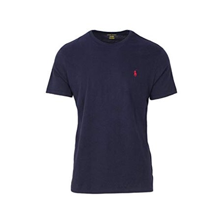 Polo Ralph Lauren Mens Crew Neck T-shirt (Small, Ink)