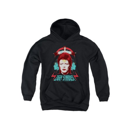 David Bowie Ziggy Heads Big Boys Youth Pullover Hoodie