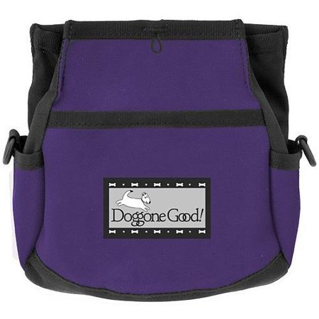 Rapid Rewards Deluxe Dog Training Bag with Belt by Doggone Good (Purple) ()