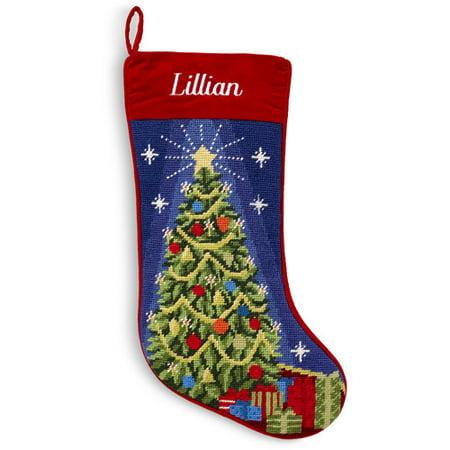 Personalized Needlepoint Christmas Stocking, Christmas ...