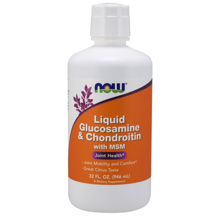 NOW Supplements, Glucosamine & Chondroitin with MSM, Citrus Flavor, Liquid