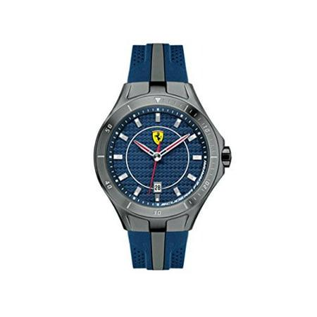 Ferrari Scuderia Race Day Blue Dial Blue And Grey Silicone Mens Watch 830081