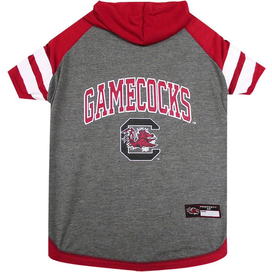 Pets First College South Carolina Gamecocks Pet Hoody Tee Shirt, 4 Sizes Available