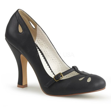 4' Patent Mary Jane (SMITTEN-20, 4'' Heel Instep Strap Mary Jane Pump Shoes)