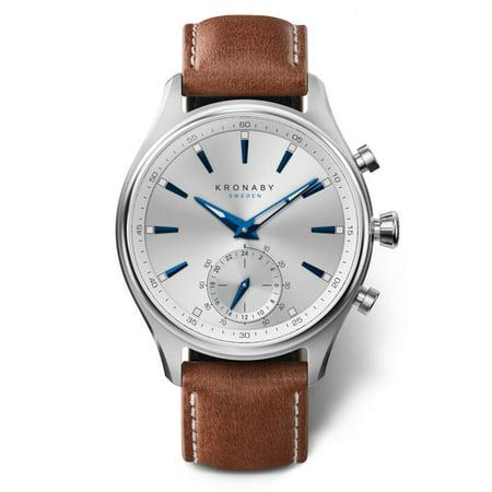 Kronaby Sekel S3122-1 Brown Leather Automatic Self Wind Smart Watch - image 1 de 4