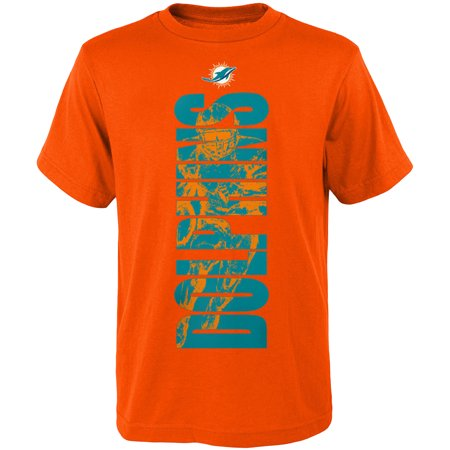 Youth Orange Miami Dolphins Side T-Shirt